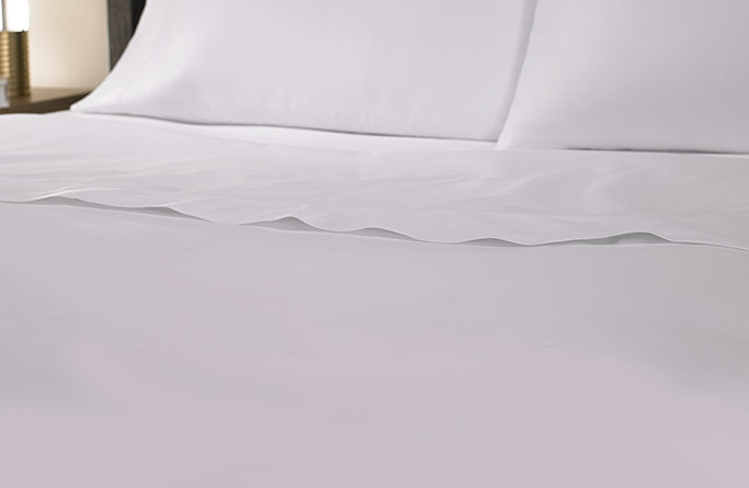 White Hemstitch Flat Sheet