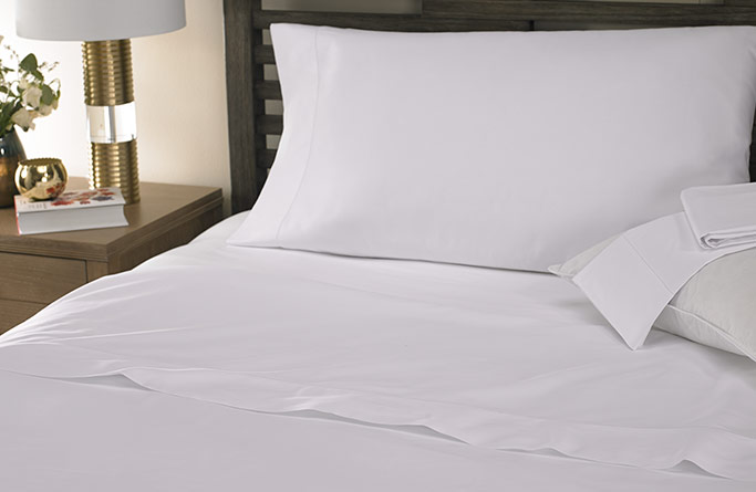 White Hemstitch Sheet Set